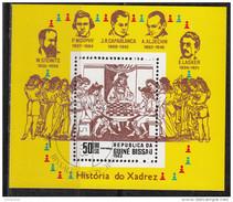 480 Cuba 1983 Historia De Xadrez - Storia Degli Scacchi Morphy Capablanca Lasker Sheet Perf. - Scacchi
