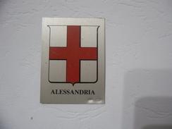 STEMMA CITTà DI ALESSANDRIA  EMBLEMA LAMINA PLACCA SMALTATA/ARGENTO 925/1000 PUNZONATO. - Italia