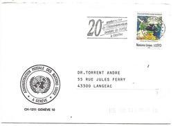 ONU GENEVE LETTRE POUR LA FRANCE 1985 - Office De Genève