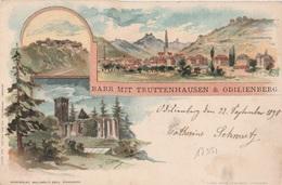17352# BARR MIT TRUTTENHAUSEN & ODILIENBERG 1898 MONT SAINTE ODILE BAS RHIN ALSACE - Barr