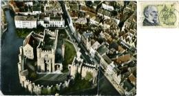 BELGIO  FLANDRE ORIENTALE  GENT GAND  Vue Aérienne  Château Des Comtes  Nice Stamp - Gent