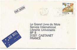AUSTRALIE LETTRE DE VICTORIA PARK POUR LA FRANCE 1989 - Postmark Collection