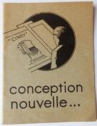 DOCUMENT 1937 CONCEPTION NOUVELLE FORGES DE CINEY POÊLE GIVET ARDENNES - 1900 – 1949