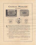 33 MARGAUX FACTURE 1921 Vin De Bordeaux CHATEAU MARGAUX  -  Z18 - 1900 – 1949