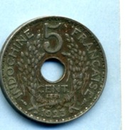 1923  5 CENTIMES INDOCHINE - Coins