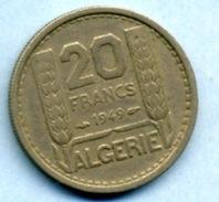 1949  20 FRANCS - Algeria