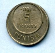 1954 5 FRANCS - Tunisia