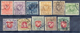 LITHUANIA 1919 Arms Definitive Set Used  Michel 40-49 - Lithuania