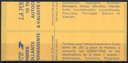 2874 C 4 TVP BRIAT ROUGE - Pointillé Entre 2 Lignes - Découpe Décalée à Cheval - Date Basse 11.10.94 - Carnets