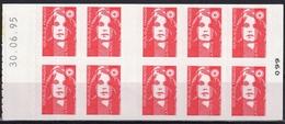 2874 C 3 TVP BRIAT ROUGE - Papier Neutre Aux U.V. - Date Haute 30.06.95 - Definitives