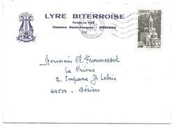 BELLE LETTRE A EN TETE DE BEZIERS 1978 - Marcophilie (Lettres)