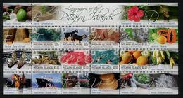 PITCAÏRN 2016 - Language De Pitcairn, Fruits - Feuillet 8 Val Neufs // Mnh - Timbres