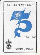 PORTUGAL – Pocket Calendar 1986 75.º ANIVERSARIO ESCOTEIROS DE PORTUGAL - Calendriers