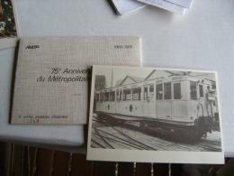Carnet N 849  Entier Postal Repiquage 75 Eme Anniversaire Metro Parisien 6 Valeurs - Cartoline Postali Ristampe (ante 1955)