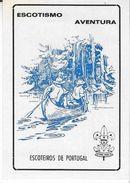 PORTUGAL-Pocket-Calendar-1986-ESCOTEIROS-DE-PORTUGAL - Calendriers
