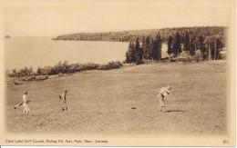 Canada 1932 - Carte Postale Illustré Officiel - Vue 351 Clear Lake Golf Course, Riding Mt. Nat. Park. Man Canada - Golf