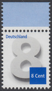 !a! GERMANY 2015 Mi. 3188 MNH SINGLE W/ Top Margin - Numeral Drawing - Nuovi