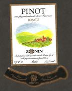 ITALIA - Etichetta Vino PINOT ROSATO DA UVE DI PINOT NERO Cantina ZONIN Di Gambellara Rosato Del VENETO - Vino Rosato