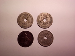 A VOIR ! LOT DE 4 MONNAIES DIVERSE BELGIQUE  ANNEES 1861 1903 1904 ET UNE 1912 A IDENTIFIER  ! - Monnaies & Billets