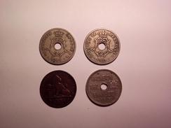 A VOIR ! LOT DE 4 MONNAIES DIVERSE BELGIQUE  ANNEES 1861 1903 1904 ET UNE 1912 A IDENTIFIER  ! - Vrac - Monnaies