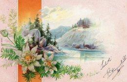 [DC9842] CPA - BELLISSIMA CARTOLINA D'EPOCA FLOREALE - IN RILIEVO BRILLANT - Viaggiata - Old Postcard - Vari
