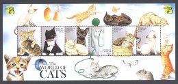 Antigua - 1999 Cats Kleinbogen (1) MNH__(FIL-10687) - Antigua En Barbuda (1981-...)