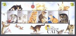 Antigua - 1999 Cats Kleinbogen (2) MNH__(FIL-10714) - Antigua En Barbuda (1981-...)