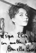 Fotografia B/N Di Brunella Bovo ( Dedica Con Autografo ) 15 X 10,5 - Foto Dedicate