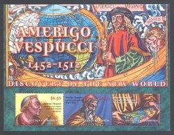Antigua - 2002 Amerigo Vespucci Kleinbogen MNH__(THB-5804) - Antigua Et Barbuda (1981-...)