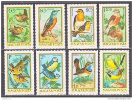 Hungary 1973 Ungarn Mi 2855-2862 Songbirds / Singvögel **/MNH - Zangvogels