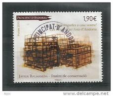 Instinct De Conservation, Oeuvre De Javier Balmaseda. Un Timbre-poste Oblitéré, 1 ère Qualité,haute Faciale - Gebraucht