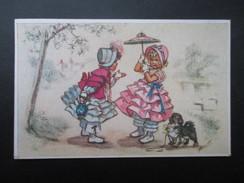 CP HUMOUR (V1705) JEUNE ENFANTS AVEC OMBRELLE ET PETIT CHIEN (2 Vues) ILLUSTRATEUR G BOURET - Humor