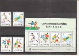 MACAO   Football Soccer World Cup 1994  4v.+ SS Perf. - World Cup