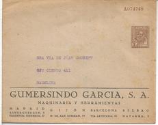CERVANTES DON QUIJOTE ENTERO POSTAL PRIVADO RARO GUMERSINDO GARCIA MAQUINARIA FRANQUEO IMPRESO 2 CTS TARIFA IMPRESOS - Writers