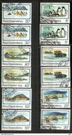 Série Complète Paysages Du Territoire De Ross.  12 Timbres Oblitérés, Cachets Ronds, 1 ère Qualité - Dépendance De Ross (Nouvelle Zélande)