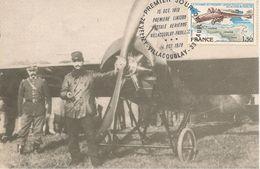 CARTE-PHILATELIQUE-1978-LT RONIN-AVION MORANE SAULNIER G-1913-1é LIAISON POSTALE-Villacoublay-Pauillac--TBE - ....-1914: Vorläufer