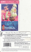 PUERTO RICO -  Caravelle, CTI Recharge Card(thick Plastic, No Value), Used