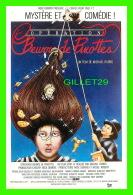 AFFICHES DE CINÉMA - OPÉRATION BEURRE DE PINOTTES DE MICHAEL RUBBO - PRODUCTIONS LA FÊTE INC, 1985 - - Affiches Sur Carte