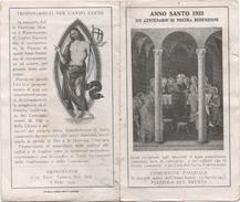 Santino Per L'Anno Santo 1933 E Comunione Pasquale A Piazzola Sul Brenta (Padova) - Santini