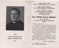 Santino Ricordo Del Trigesimo Della Morte Di Don Pietro Dalla Benetta A Piazzola Sul Brenta (Padova) 1942 - Santini