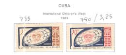Cuba 1963 Week Chindren.Scott.789+790 See Scans - Nuovi