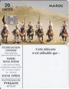 MOROCCO - Horse Back Riders, Studio Jauson 20 Units(reverse C), Used