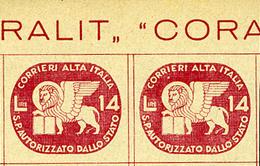 1945 - ITALIA - SERVIZI PRIVATI - Catg. UNIF.3 - NH - (BA - IBE6747) - 5. 1944-46 Lieutenance & Umberto II