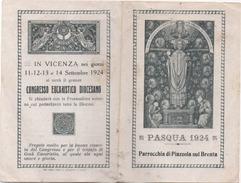 Santino Per La Comunione Pasquale 1934 Nella Parrocchia Di Piazzola Sul Brenta (Padova) - Santini