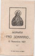 Santino Per La Giornata Pro Seminario 13 Novembre 1927 - Tip. Boaro, Piazzola Sul Brenta (Padova) - Santini