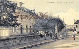 (58) Ouroux - La Mairie Et Les Ecoles - 2 SCANS - Autres Communes
