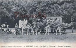 (61) Alençon - Cavalcade Du 5 Juin 1911 - Caravane Des Zingaris - 2 SCANS - Alencon