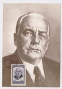 CARTE MAXIMUM CM Card USSR RUSSIA Germany Wilhelm Pieck Communist - Maximum Cards