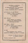 Santino Ricordo Della S. Missione 1-8 Settembre Per La Solennità Di Maria Bambina, Piazzola Sul Brenta (Padova) 1929 - Santini