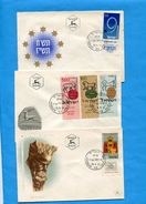 MARCOPHILIE- Israel- Lot De 7 Enveloppes FDC-années 1952-à57- Bel état - FDC